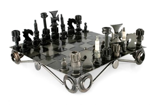 Auto part chess by Armando Ramirez