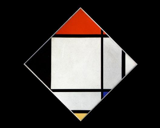 Tableau Losangique II de Mondrian