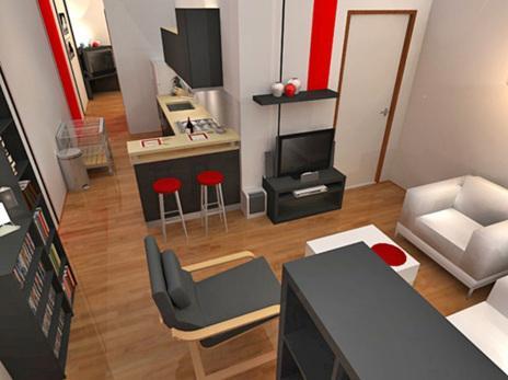 Diseño interior vivienda contenedor