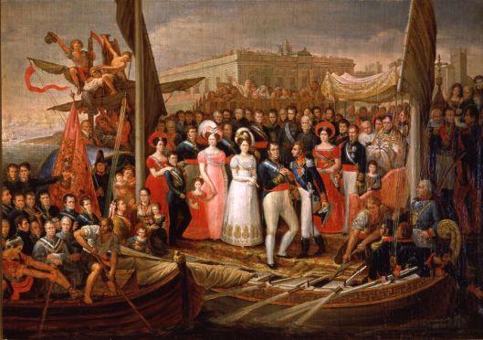 Copia de 'El desembarco de Fernando VII en el Puerto de Santa María'. / MUSEO ROMÁNTICO