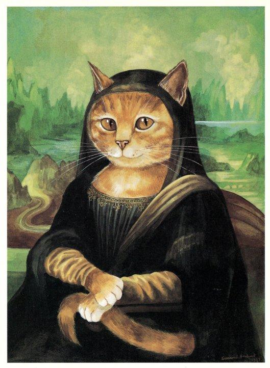 SUSAN HERBERT/CATS GALORE La Gioconda, Leonardo Da Vinci