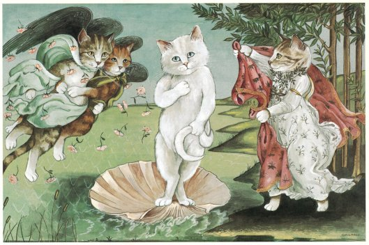 SUSAN HERBERT/CATS GALORE El nacimiento de Venus, de Botticelli