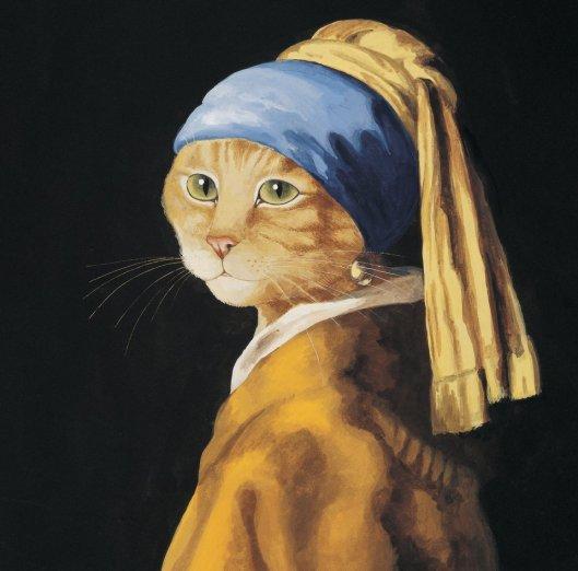 SUSAN HERBERT/CATS GALORE La joven de la perla, de Vermeer