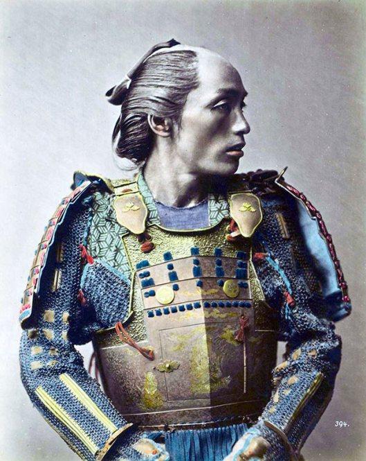 Raras fotos de colores de los últimos Samuráis japonés en el 1800 (1)