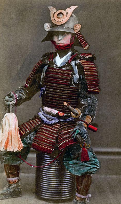 Raras fotos de colores de los últimos Samuráis japonés en el 1800 (14)