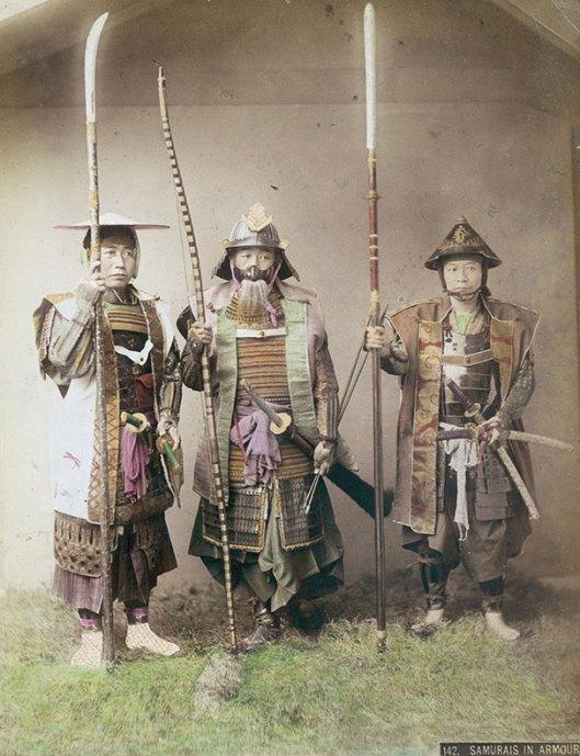 Raras fotos de colores de los últimos Samuráis japonés en el 1800 (2)