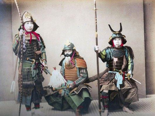 Raras fotos de colores de los últimos Samuráis japonés en el 1800 (5)
