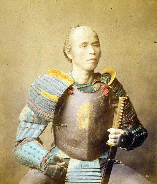Raras fotos de colores de los últimos Samuráis japonés en el 1800 (6)