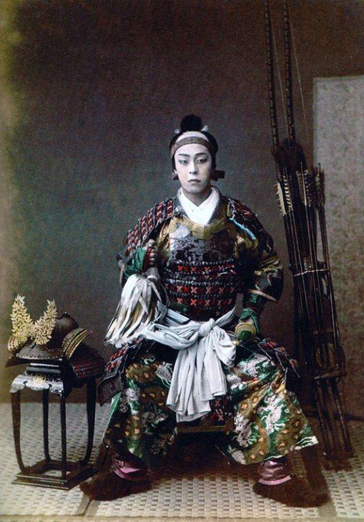 Raras fotos de colores de los últimos Samuráis japonés en el 1800 (9)