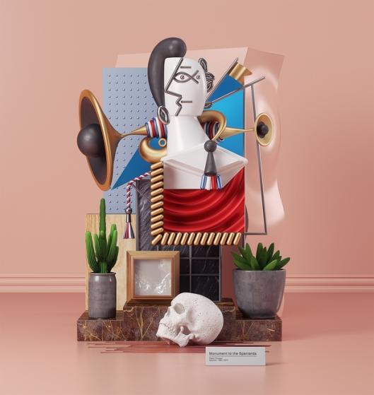 Artista-recreó-las-emblemáticas-obras-de-Piccasso-en-3D