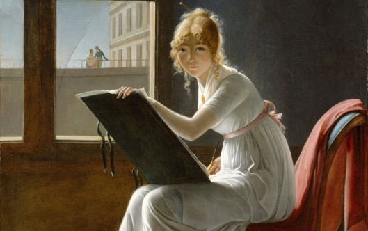 Marie-Denise-Villers-Young-Woman-Drawing